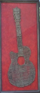Cynthia Silverman Art Recyled Artwork Guitar